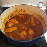 pot of chicken wings