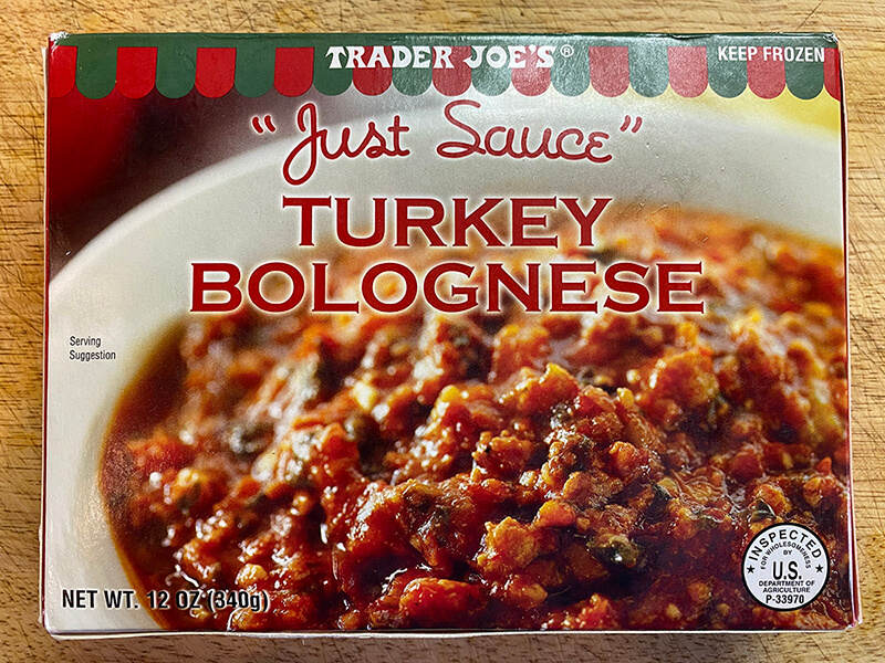 turkey bolognese box from trader joes