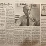 Fred Hills Obit in the New York TImes